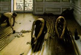 Les raboteurs de parquet by Gustave Caillebotte