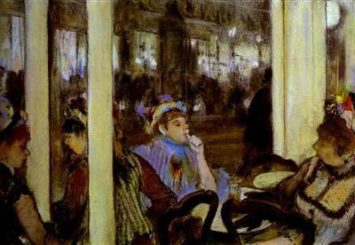 Femme à la terrasse d'un café (Degas)