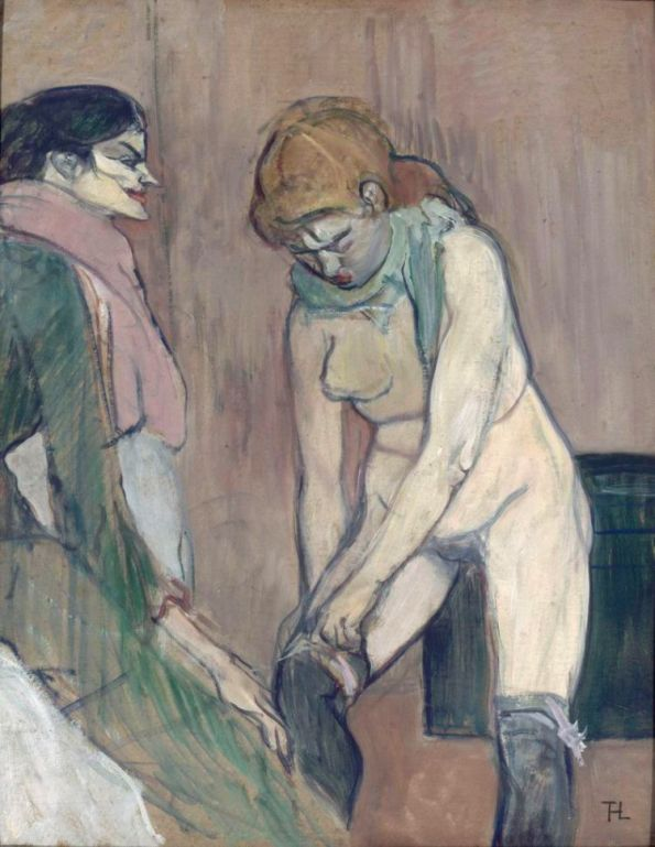 Femme tirant son bas (Henri de Toulouse-Lautrec)