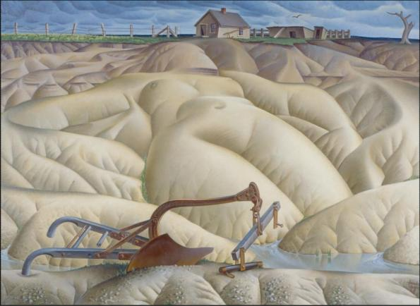 Erosion n2 Mother Earth Laid Bare by Alexander Hogue. 1936
