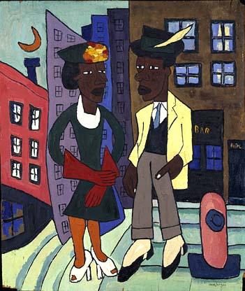 Street Life Harlem by William H Johnson 1939