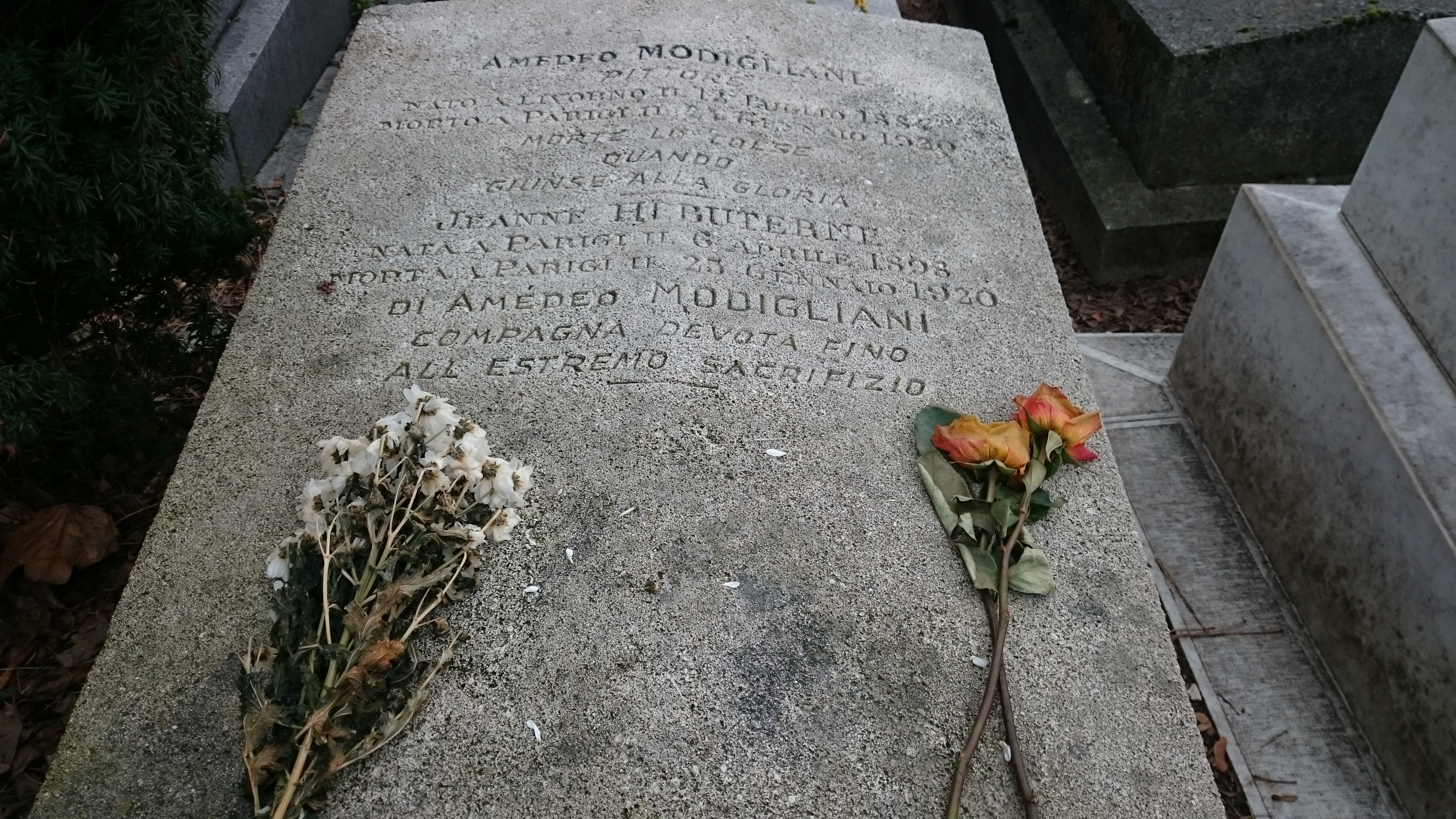 I'm Glad Jeanne H�buterne Is Buried With Him She Threw Herself Through The  Window When He Died In 1920